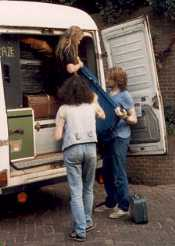 Loading the Iveco, could be anywhere, anytime!